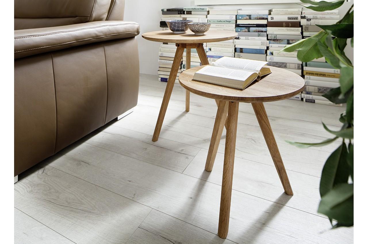 petites tables basses en bois rondes pour salon. Black Bedroom Furniture Sets. Home Design Ideas