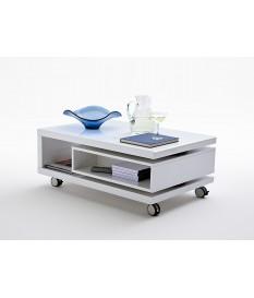 Table Basse avec Rangement & Roulettes