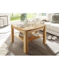 Table Basse Carrée en Bois Chêne ou Hêtre Huilé
