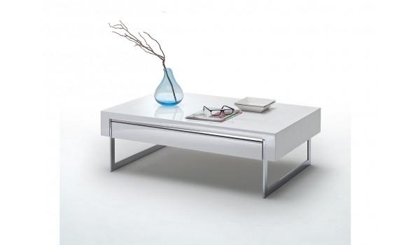 Table Basse Design Blanc Laque Pour Salon