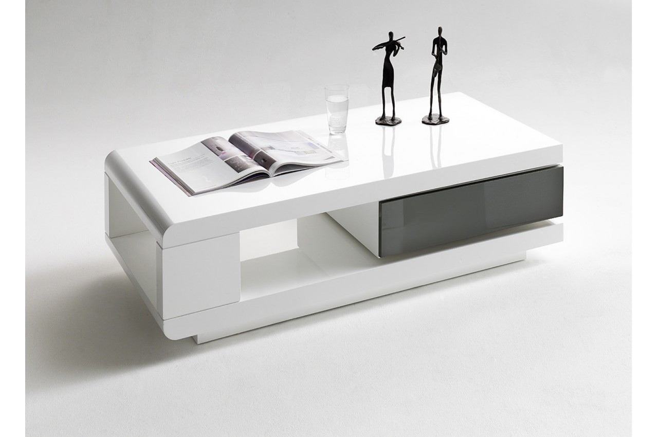 table basse avec tiroir amovible moderne pour salon. Black Bedroom Furniture Sets. Home Design Ideas