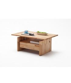 Table Basse Relevable en Bois - Effet Latté