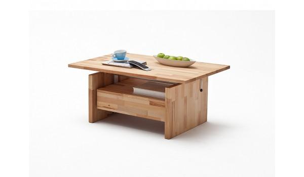 Table Basse Relevable en Bois - Effet Lattés