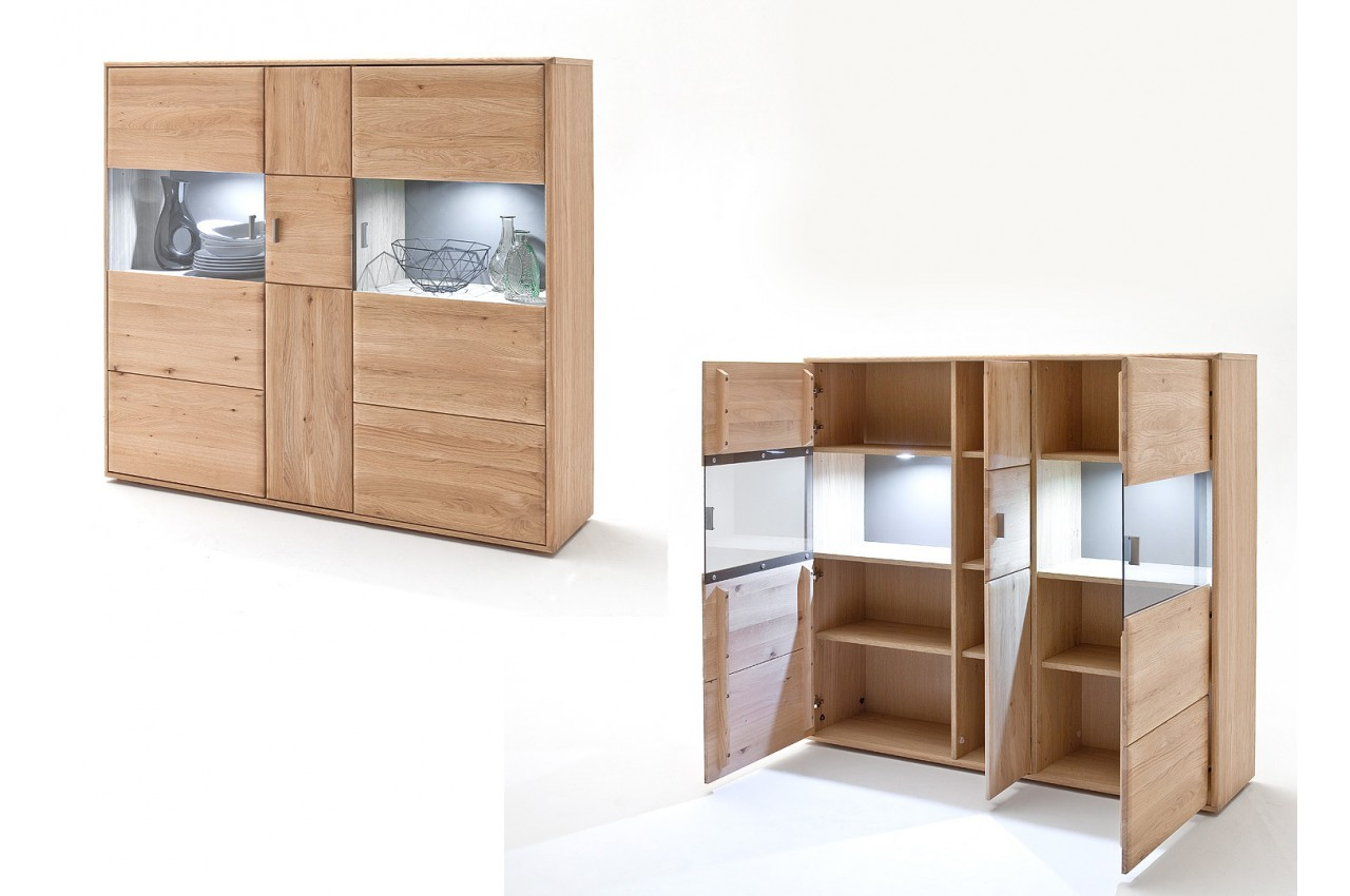 Salle manger contemporaine ch ne massif pour salle manger Meuble bois moderne