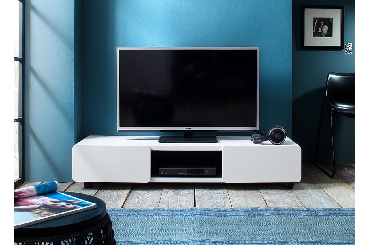 meuble tv design sur roulettes pour salon. Black Bedroom Furniture Sets. Home Design Ideas