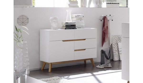 Commode de Salon Scandinave Blanche