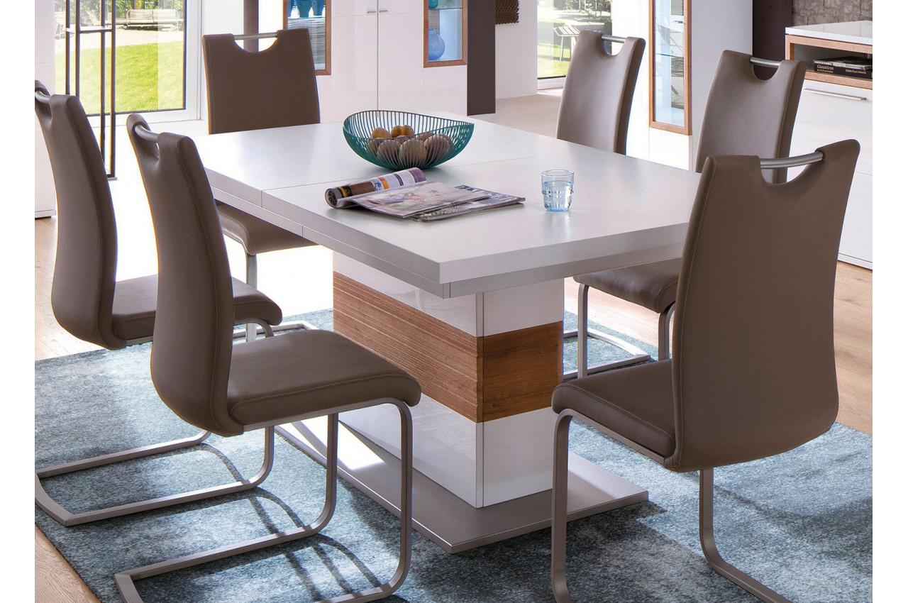 table manger design blanche bois effet 3d pour table de repas. Black Bedroom Furniture Sets. Home Design Ideas