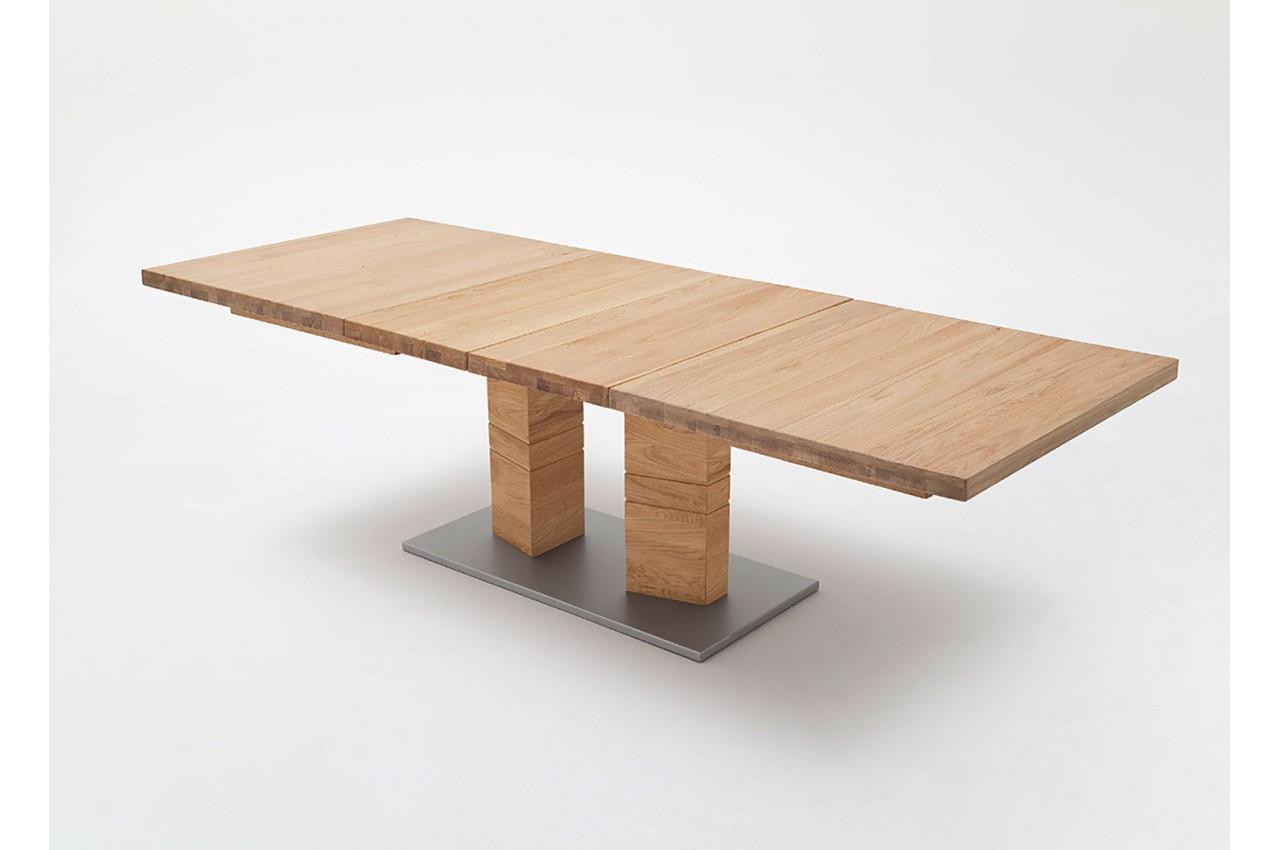 Table rectangulaire en bois massif 140 220 cm novomeuble - Table repas bois massif ...