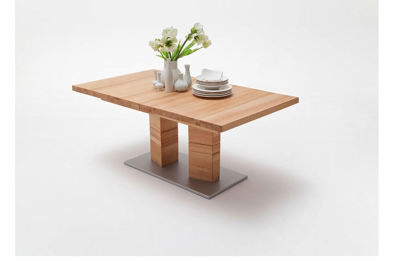 table rectangulaire en bois massif 140 220 cm pour table. Black Bedroom Furniture Sets. Home Design Ideas