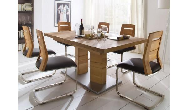 Grande Table Rectangulaire en Bois Massif 180/270 cm