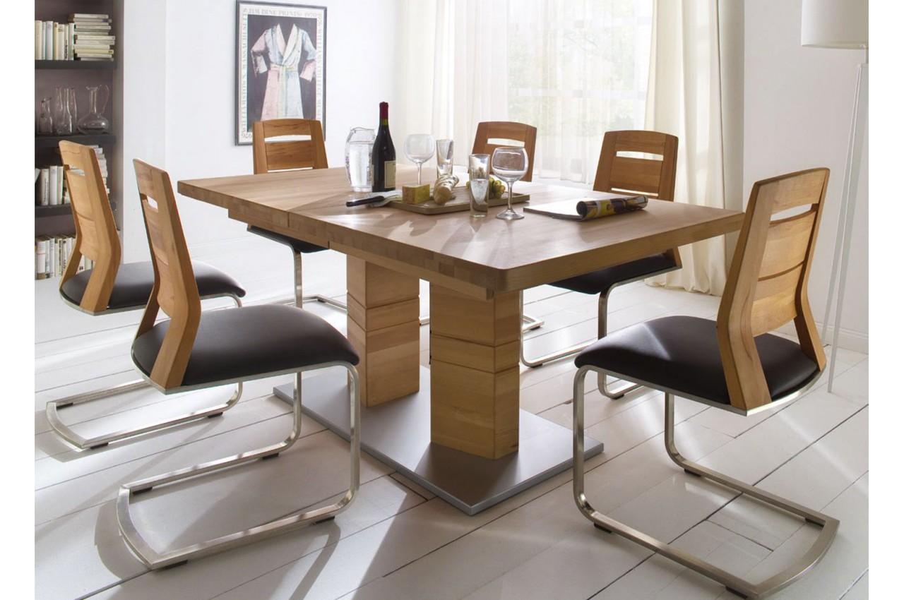 grande table rectangulaire en bois massif 180270 cm