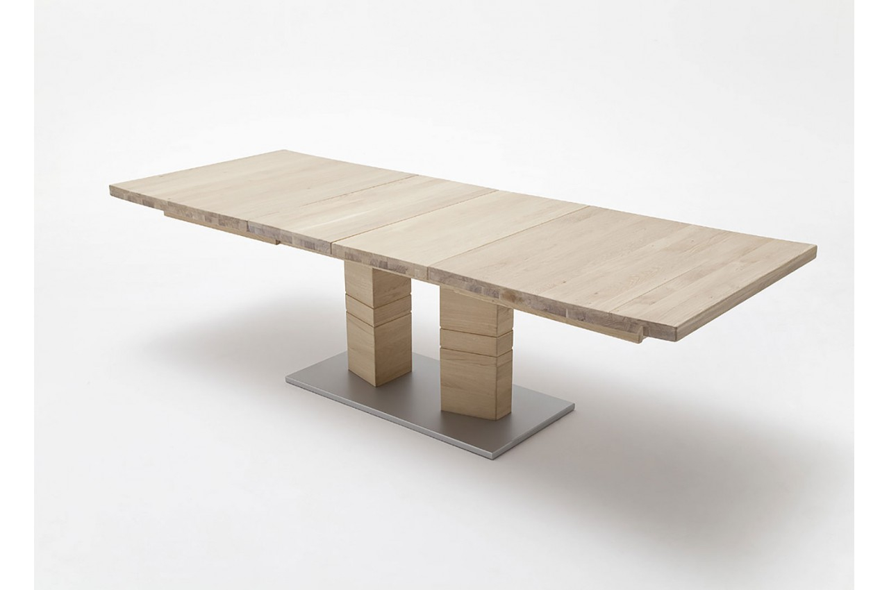 grande table en bois massif 180 270 cm pour salle manger. Black Bedroom Furniture Sets. Home Design Ideas