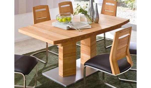 Table de Salle à Manger en Bois Massif 140/220 cm