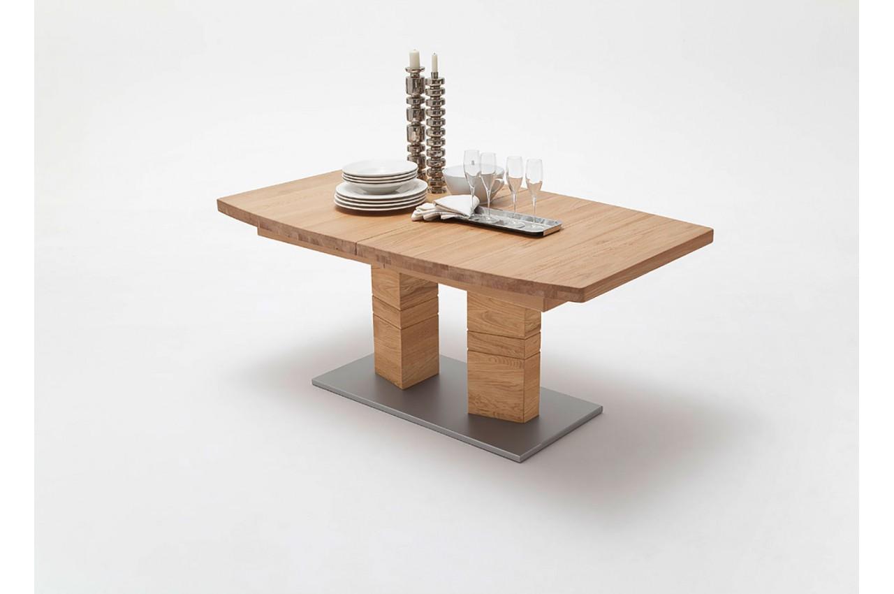 Table de salle manger en bois massif 140 220 cm pour salle manger - Belle table salle a manger ...
