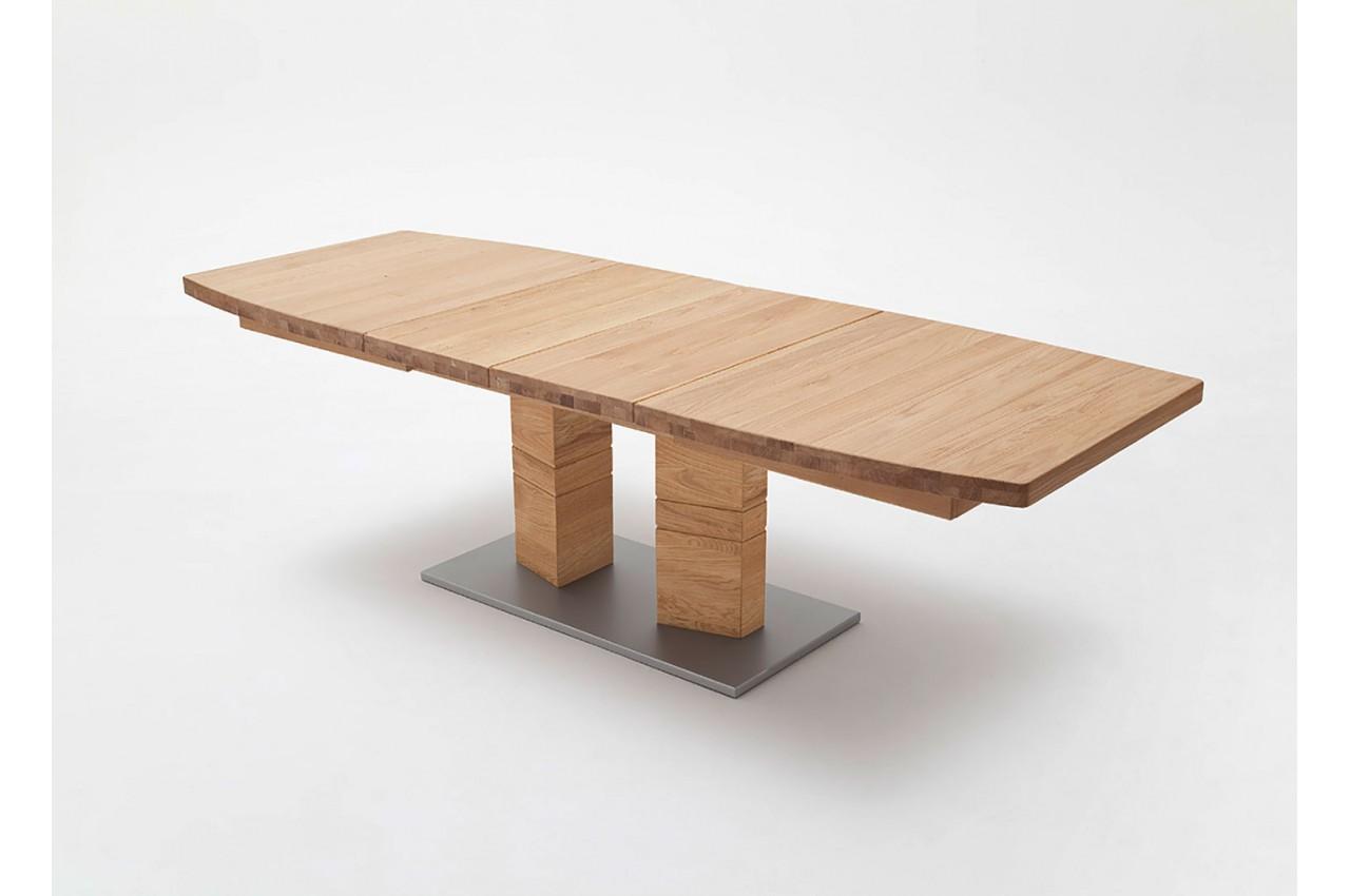 Table de salle manger en bois massif 140 220 cm novomeuble for Table de salle a manger 220 cm