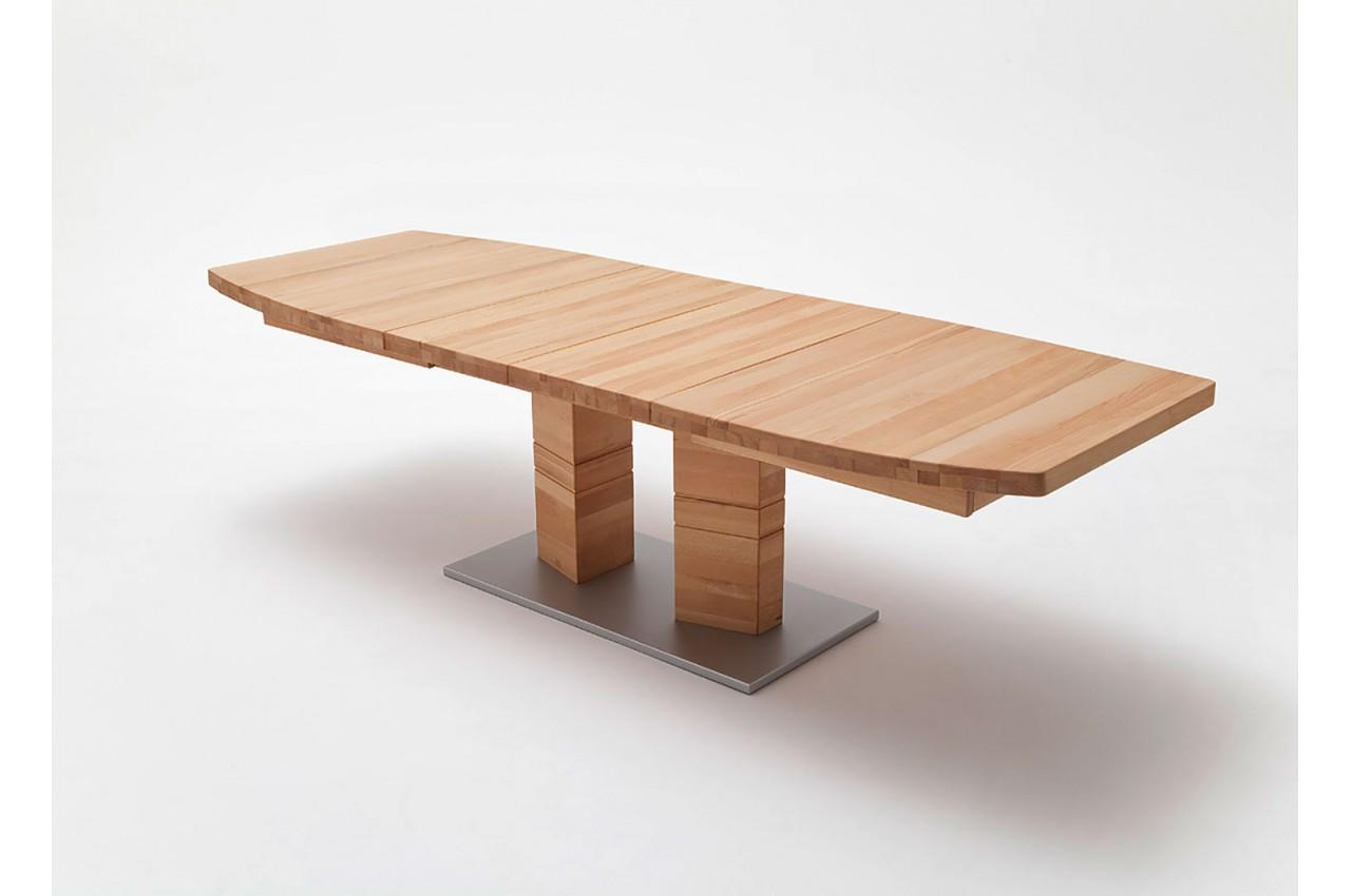table de s jour en bois massif 180 270 cm novomeuble. Black Bedroom Furniture Sets. Home Design Ideas