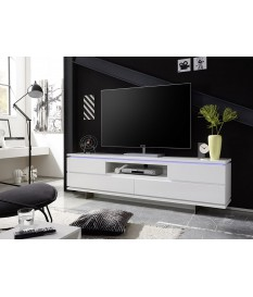 Meuble TV Design Blanc & Led RGB