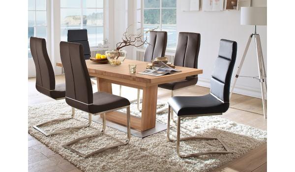 table de repas rectangulaire en bois massif