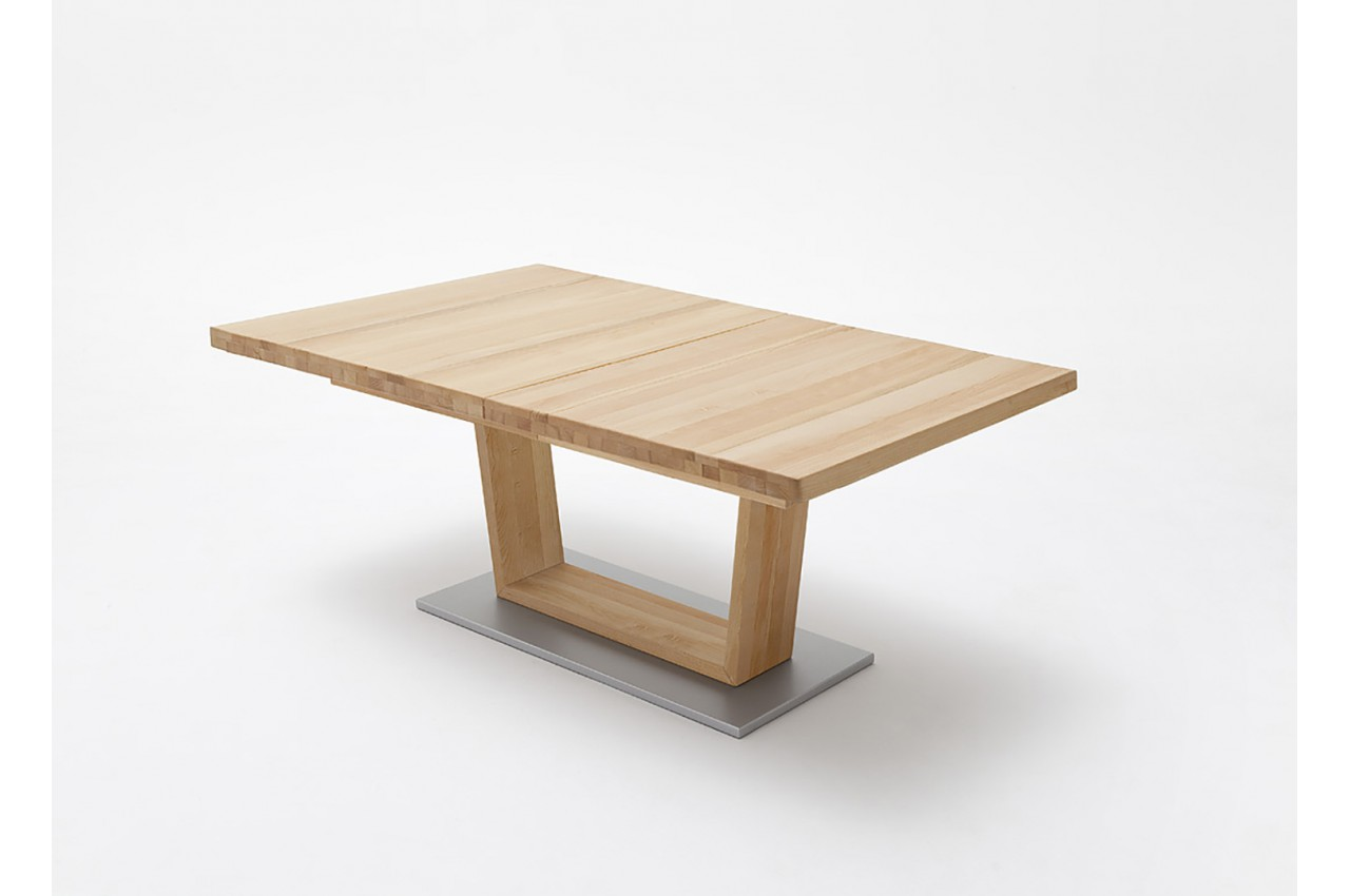 Table en bois massif 140 220 cm design novomeuble - Table repas bois massif ...