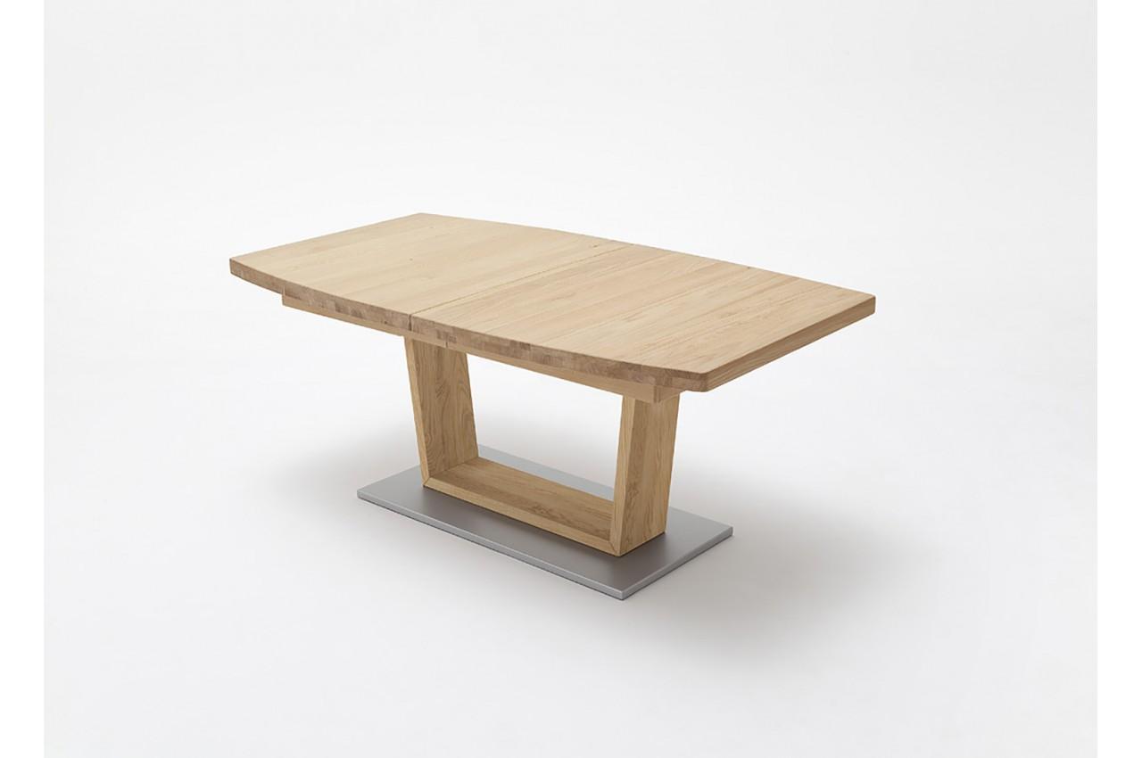 Table ovalis e en bois massif 180 270 cm design novomeuble - Table repas bois massif ...