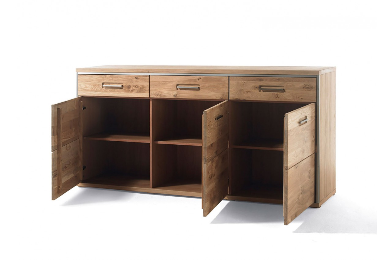 buffet de standing en bois ch ne massif novomeuble. Black Bedroom Furniture Sets. Home Design Ideas