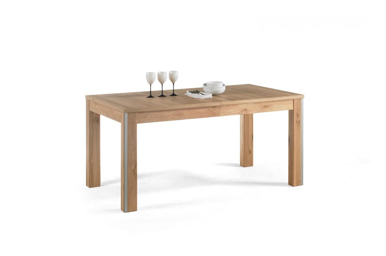 table de repas contemporaine en bois ch ne massif pour. Black Bedroom Furniture Sets. Home Design Ideas