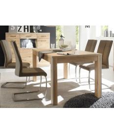 Table de Repas Contemporaine en bois Chêne Massif