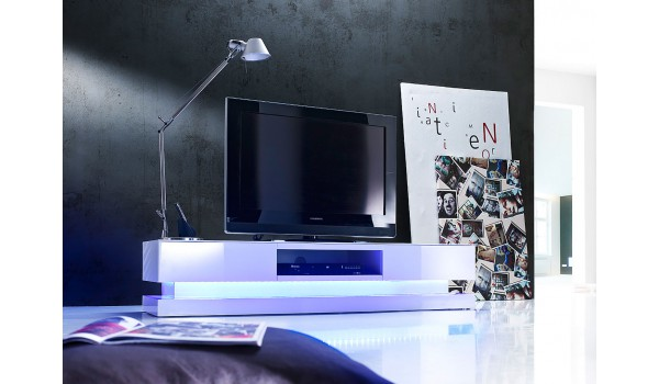 Meuble Tv Led Laque Blanc Design
