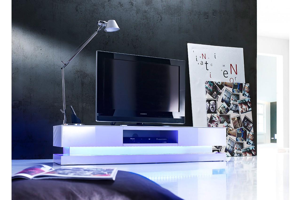 Meuble Tv Led Laqu Blanc Design Novomeuble # Meuble Tv Led Design