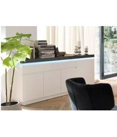 Buffet Gris et Blanc Lumineux 175 cm