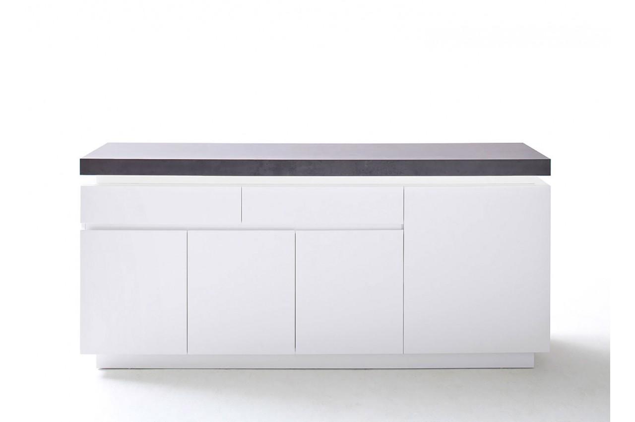 buffet gris et blanc lumineux 175 cm novomeuble. Black Bedroom Furniture Sets. Home Design Ideas