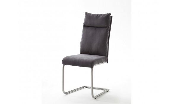 chaise tissu gris ou marron clair avec poigne - Chaise En Tissu Gris