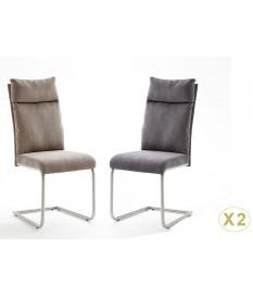 Chaise Tissu Gris ou Marron Clair avec Poignée