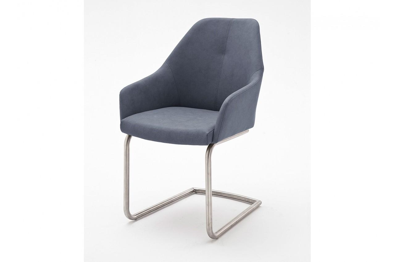 chaises enveloppantes avec accoudoirs pied inox novomeuble. Black Bedroom Furniture Sets. Home Design Ideas