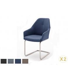 Chaises Enveloppantes avec Accoudoirs Pied Inox