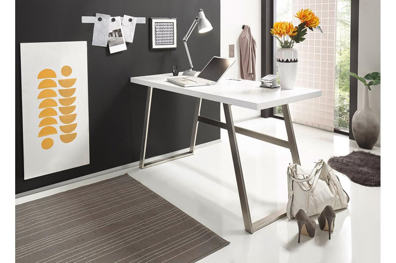 table pour pc portable laqu blanc pour chambre enfant ado. Black Bedroom Furniture Sets. Home Design Ideas