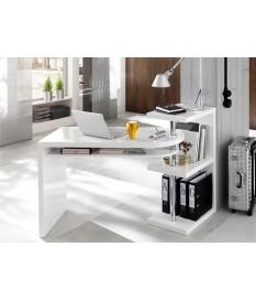 Bureau Design Amovible Blanc Laqué