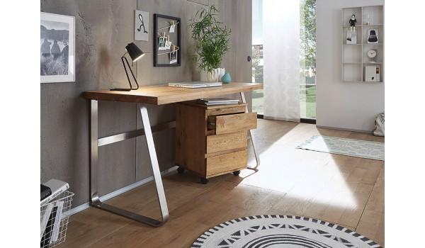 Bureau design en bois massif pour chambre enfant ado
