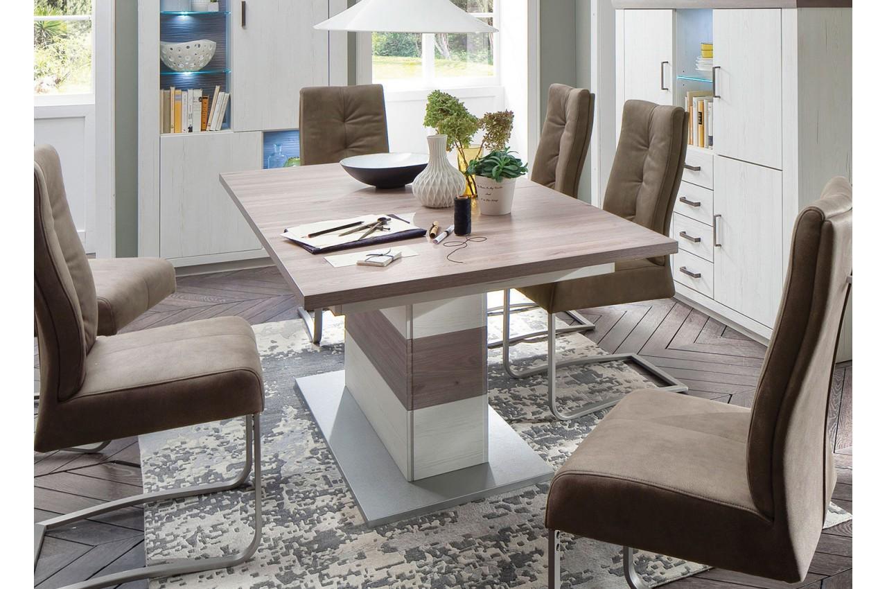 Grande table à manger en MDF imitation bois, en promotion.