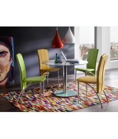Table Ronde en Verre - 5 Coloris Moderne