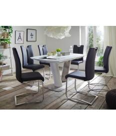 Table à Manger Design avec Rallonge Blanche