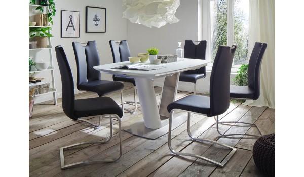 Table A Manger Design Avec Rallonge Blanche