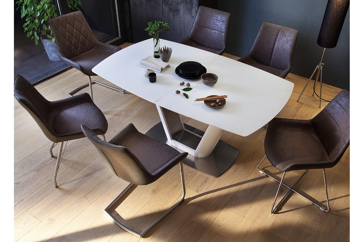 table manger design avec rallonge blanche pour salle manger. Black Bedroom Furniture Sets. Home Design Ideas