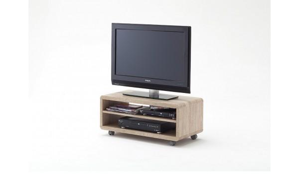 Meuble TV à Roulettes Chêne Clair