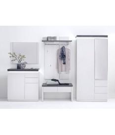 Meuble D'entrée Design Blanc & Gris
