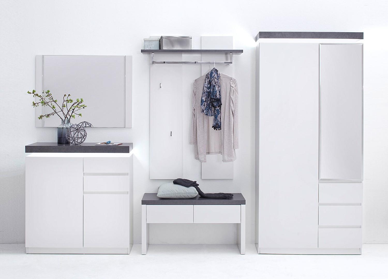 Meuble D Entree Design Blanc Gris Pour Meuble Entree
