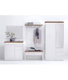 Meuble D'entrée Design Blanc & Bois
