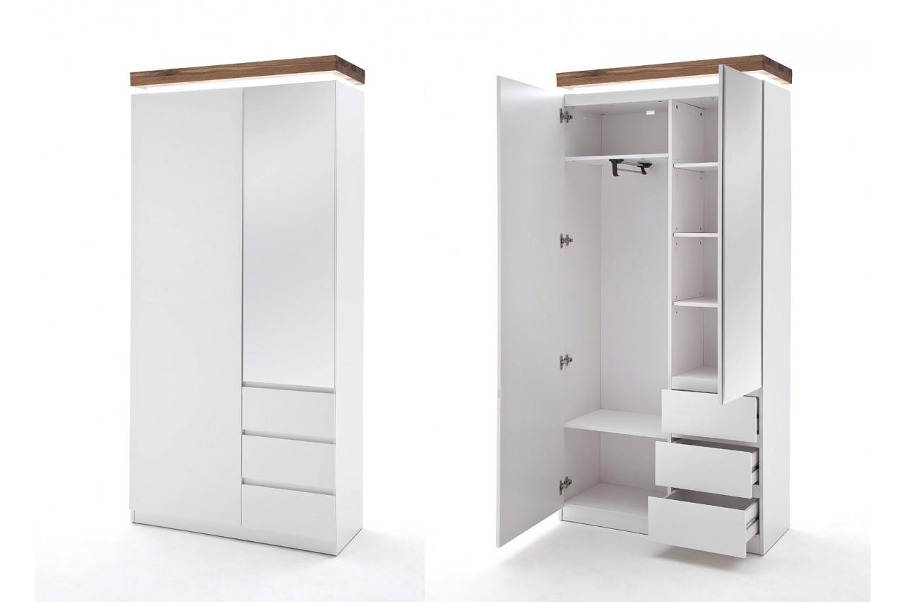 Meuble d 39 entr e design blanc bois novomeuble for Meuble bois blanc
