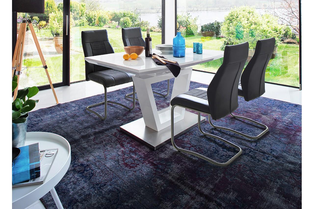 Table À Manger Design Blanche Laquée pour salle à manger