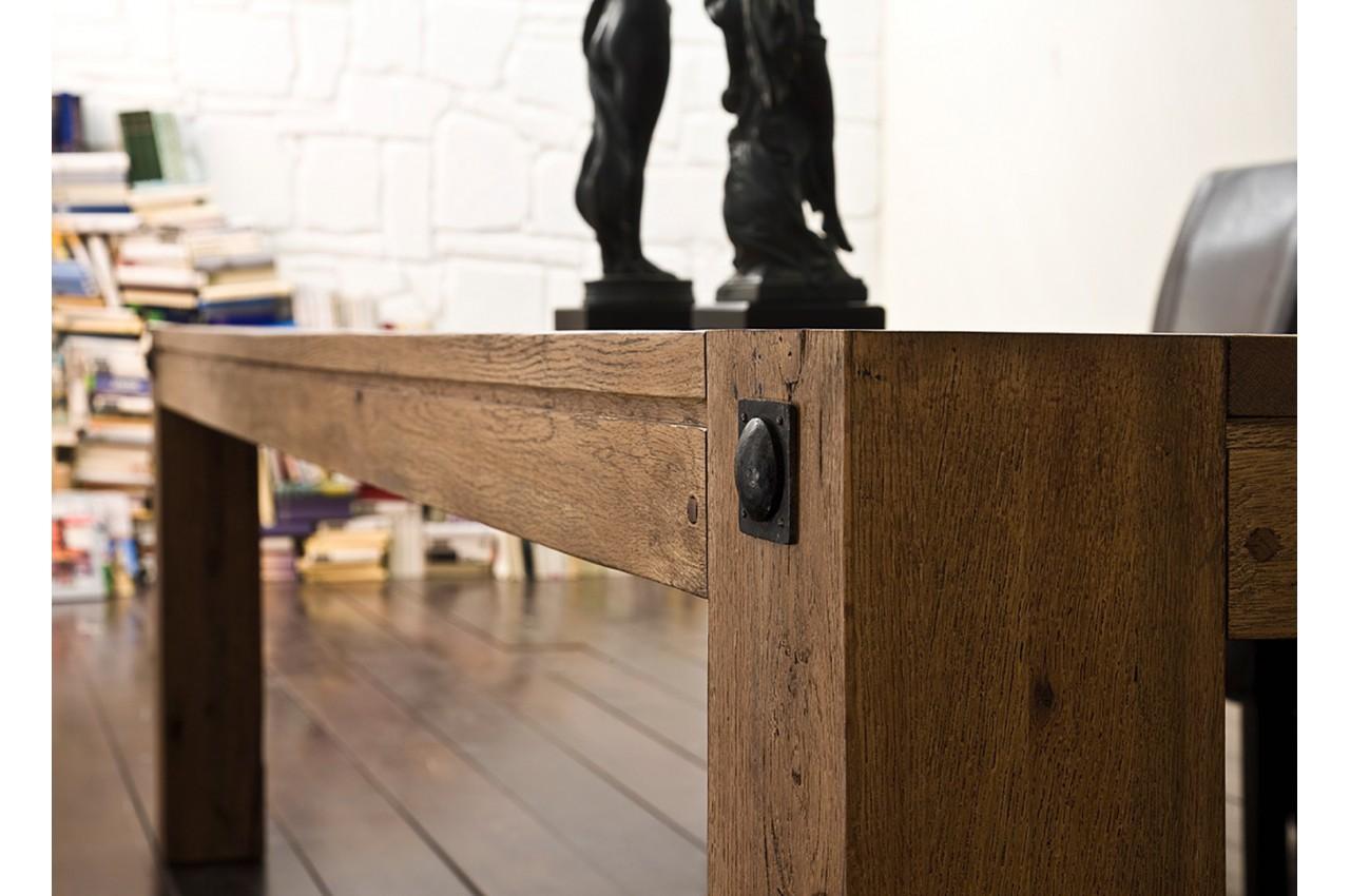 table de ferme moderne ch ne massif novomeuble. Black Bedroom Furniture Sets. Home Design Ideas